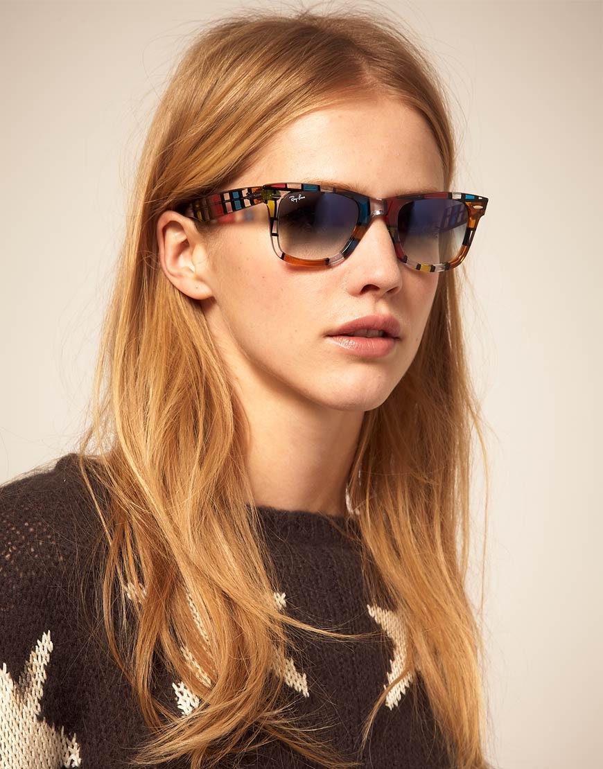 a9720adcd9 Lyst - Ray-Ban Pattern Square Wayfarer Sunglasses