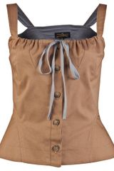 Vivienne Westwood Anglomania Libertine Blouse in Brown (tan) - Lyst