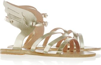 Ancient Greek Sandals Ikaria Metallic Leather Wing Sandals - Lyst