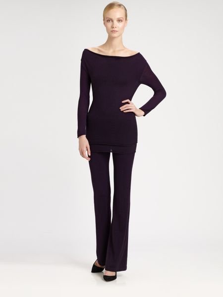 Donna Karan New York First Layer Cashmere Cowlneck Top in Black