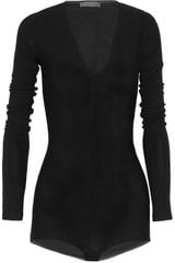 Donna Karan New York Fineknit Bodysuit - Lyst