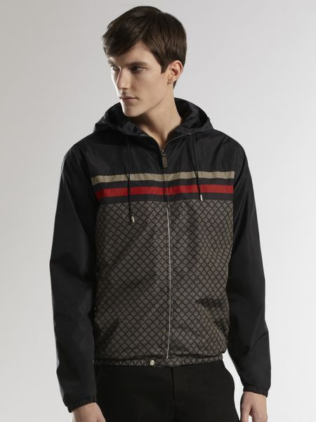 Gucci Iconic Kway Jacket In Black For Men Ink Lyst