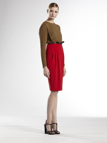 Gucci Belted Imperial Dress in Multicolor (red) - Lyst
