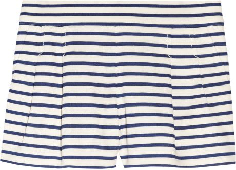 J.crew Dapper Striped Linenblend Shorts in Black (navy) - Lyst