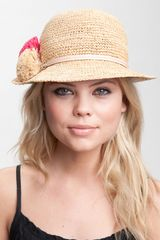 Juicy Couture Straw Bucket Hat - Lyst