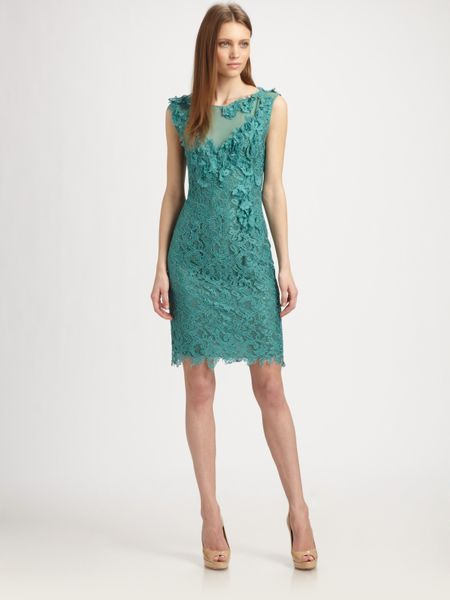Philosophy Lace Dress In Blue Turquoise Lyst