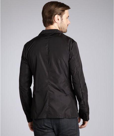 Prada Nylon Two Button Blazer In Black For Men Lyst