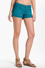 7 For All Mankind Lightweight Overdyed Denim Shorts - Lyst