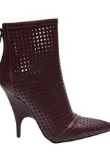 Alexander Wang Shelly Perforated Bootie in Brown (burgundy) - Lyst