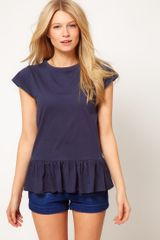 ASOS Collection Asos Tshirt with Peplum - Lyst