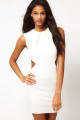 Asos Asos Bodycon Dress with Cut Out Sides - Lyst