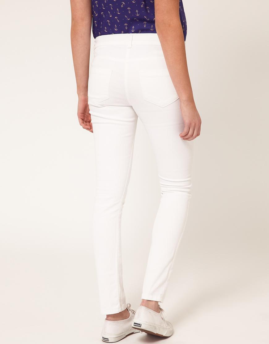 Asos Asos Maternity Skinny Jeans in White in White