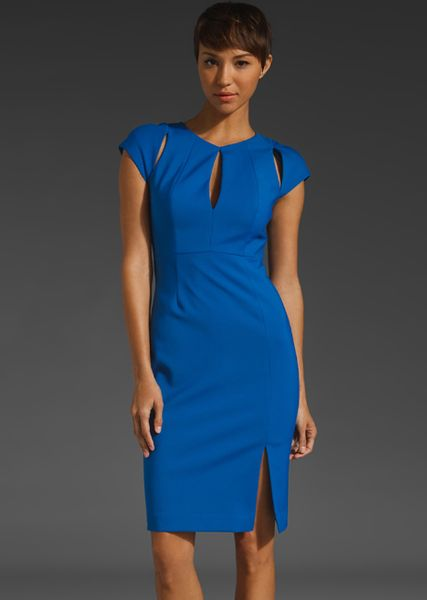 Black Halo Eddie Sheath Dress in Blue (electric) - Lyst