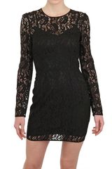 Dolce & Gabbana Viscose Lace Dress - Lyst