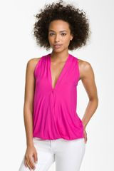 Ella Moss Girls Best Friend Draped Faux Wrap Tank - Lyst