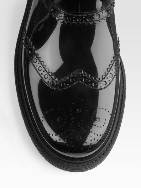 Gucci Aberdeen Rain Boots In Black Lyst