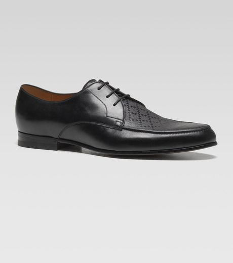 Gucci Bonnard Diamante Laceup Shoe in Black for Men - Lyst