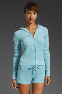 Juicy Couture Terry Long Sleeve Original Zip Hoodie - Lyst
