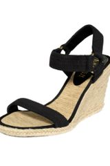Lauren By Ralph Lauren Indigo Espadrille Wedge Sandals in Black - Lyst