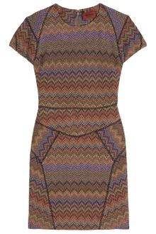 Missoni Cap Slv Short Lurex Dress - Lyst