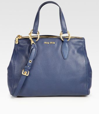 Miu Miu Vitello Caribou Top Handle Bag - Lyst
