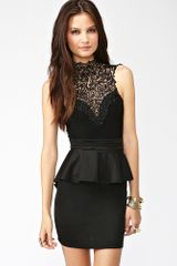 Nasty Gal Crochet Peplum Dress - Lyst