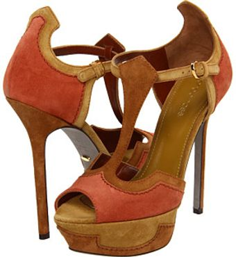 Sergio Rossi Brown High Heel Sandals - Lyst