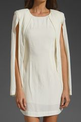Shakuhachi Split Sleeve Cape Dress in White (off white) - Lyst
