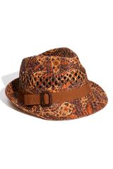 Tarnish Paisley Fedora - Lyst