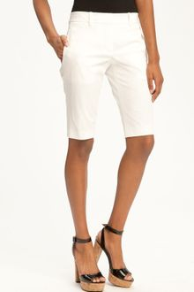 Theory Yanera Bistretch Bermuda Shorts - Lyst
