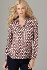 Tommy Hilfiger Long Sleeve Printed Button Down - Lyst