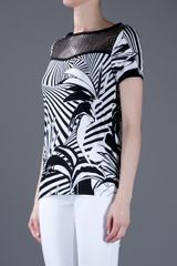 Versace Printed Top in Black - Lyst