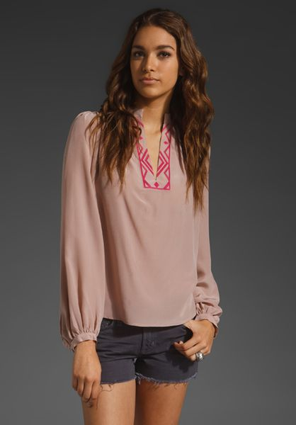 Winter Kate Anjail Blouse in Pink (adobe rose) - Lyst