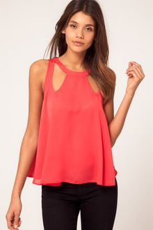 ASOS Collection  Swing Top with Cut Outs - Lyst