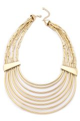 Belle Noel Tube Bead Collar Necklace - Lyst