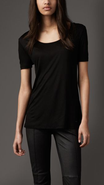 Burberry Oversized Jersey Tshirt in Black - Lyst