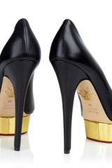 Charlotte Olympia Dolly in Black (gold) - Lyst