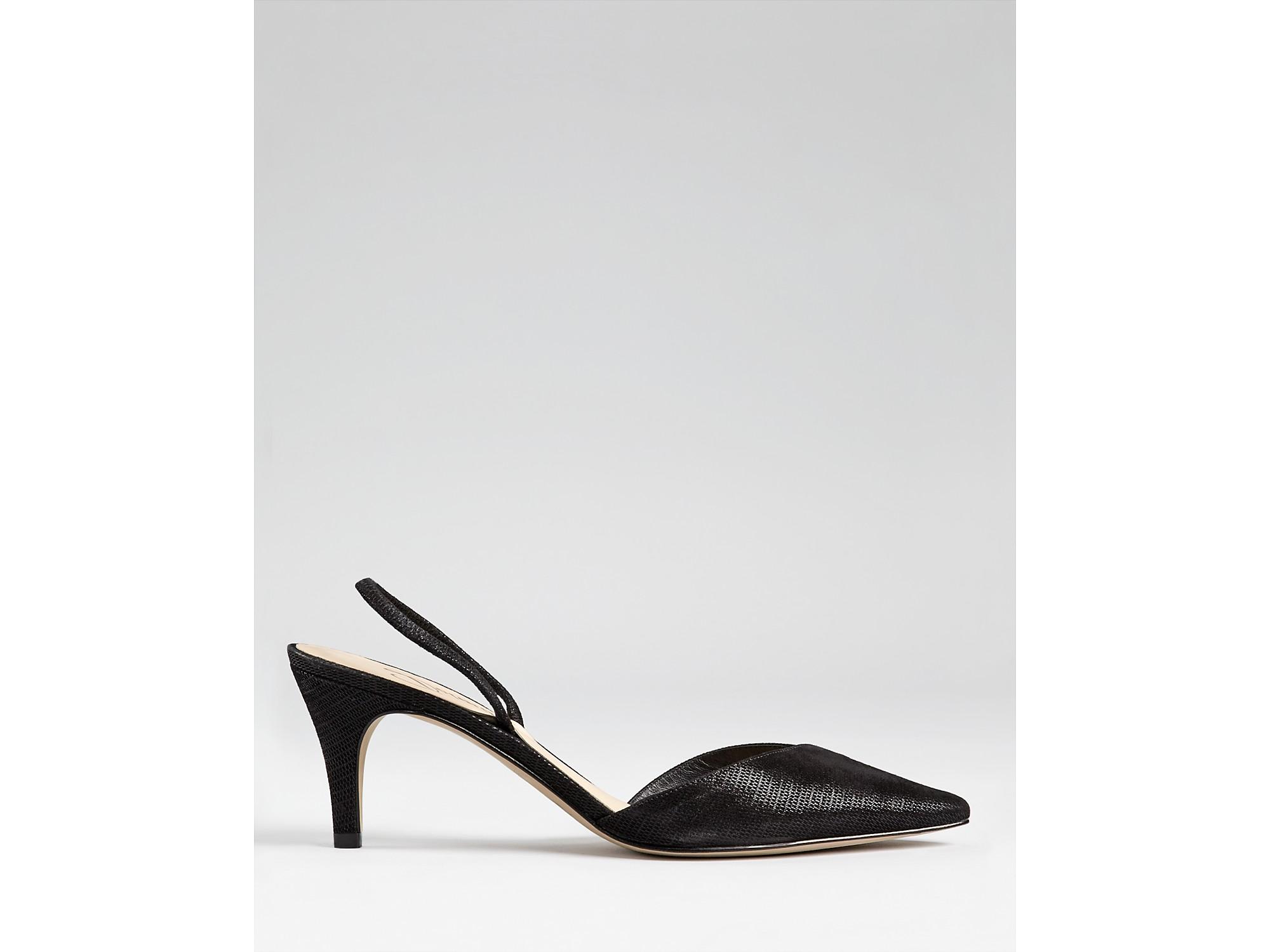 Black Slingback Kitten Heel Shoes