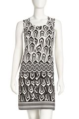 Donna Morgan Twotone Printed Shift Dress - Lyst