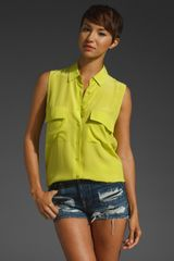 Equipment Sleeveless Signature Blouse - Lyst