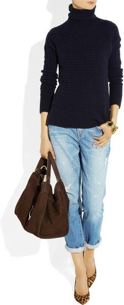 Gucci Soft Stirrup Nubuck Suede Shoulder Bag 113