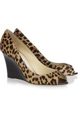 Jimmy Choo Baxen Leopardprint Calf Hair Wedge Pumps in Animal (leopard) - Lyst