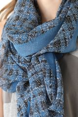 Marc By Marc Jacobs Static Plaid Scarf in Blue - Lyst