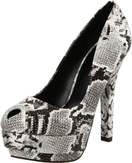 Michael Antonio Womens Kovie Pump in Black (black snake) - Lyst