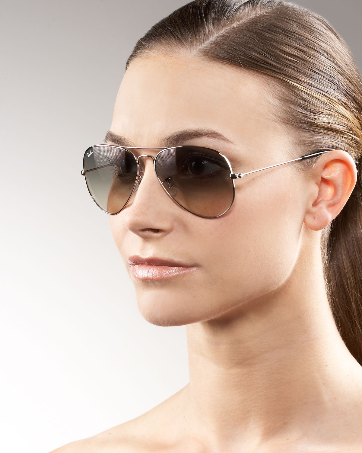 Lyst - Ray-Ban Classic Aviator Sunglasses in Brown f6b07d33d9ae