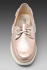 Sperry Top-sider 2Eye Boat Shoe in Gold (rose gold metallic) - Lyst