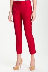 Theory Sienna Wool Stretch Slim Leg Ankle Pants - Lyst