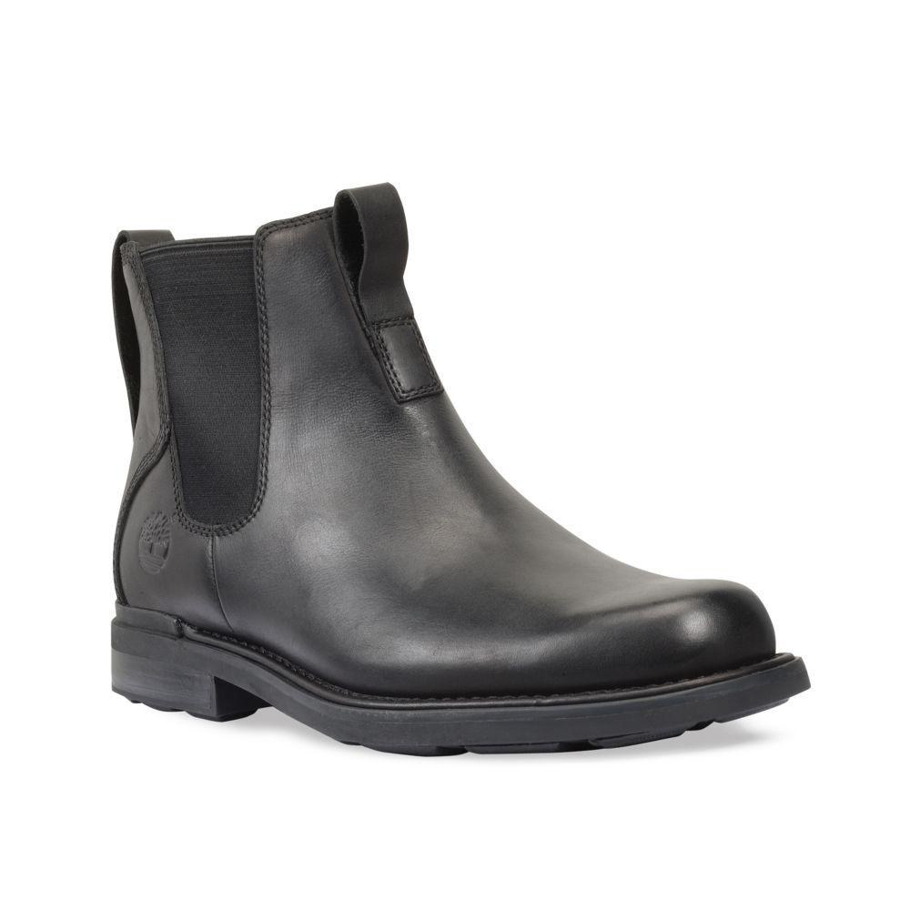 timberland mt washington waterproof chelsea boots in black