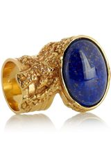 Yves Saint Laurent Arty Goldplated Glass Ring