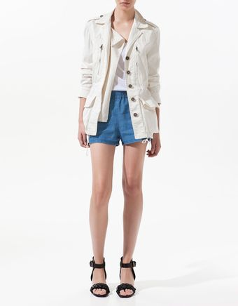 Zara Parka with Pockets - Lyst